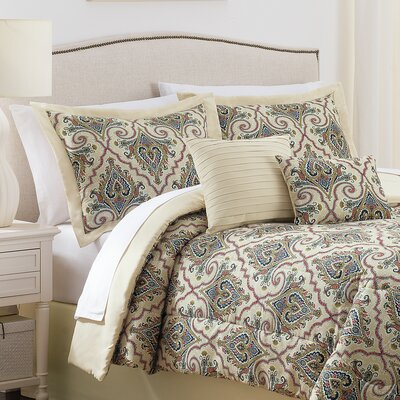 Anatalya 6 Piece Comforter Set Size: Queen, Color: Jewel