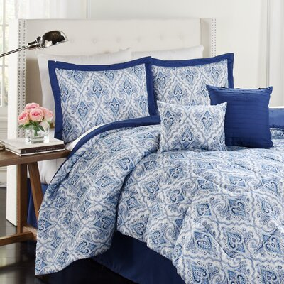 Anatalya 6 Piece Comforter Set Size: King, Color: Aegean