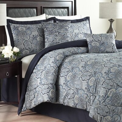Paddock Shawl 6 Piece Comforter Set Color: Porcelain, Size: Queen