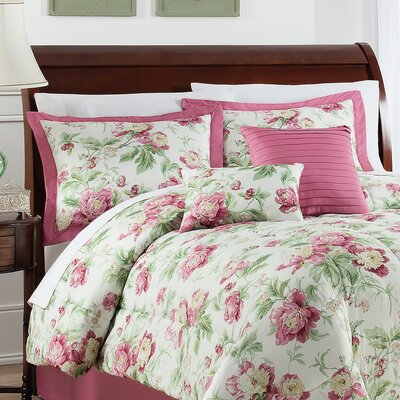 Forever Yours Berry 6 Piece Comforter Set Size: Queen