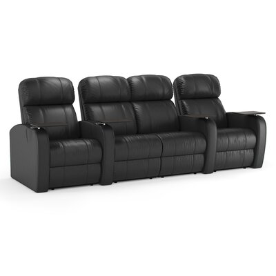 Diesel XS950 Home Theater Loveseat (Row of 4) Upholstery: Brown, Type: Power
