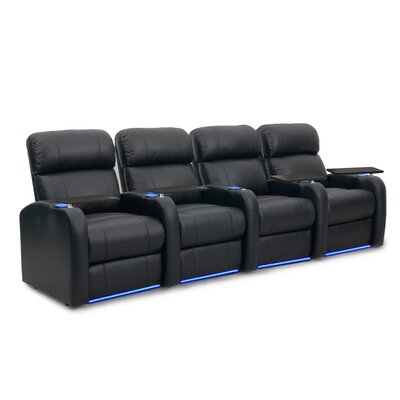 Diesel XS950 Home Theater Recliner (Row of 4) Upholstery: Black, Type: Power