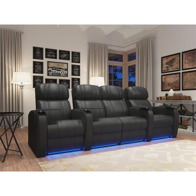 Diesel XS950 Home Theater Loveseat (Row of 4) Upholstery: Black, Type: Power