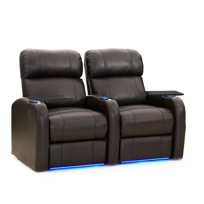 Diesel XS950 Home Theater Recliner (Row of 2) Upholstery: Brown, Type: Power