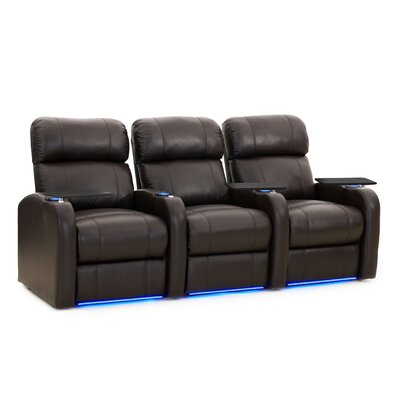 Diesel XS950 Home Theater Recliner (Row of 3) Upholstery: Brown, Type: Power
