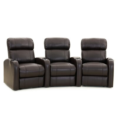 Diesel XS950 Home Theater Recliner (Row of 3) Upholstery: Black, Type: Power