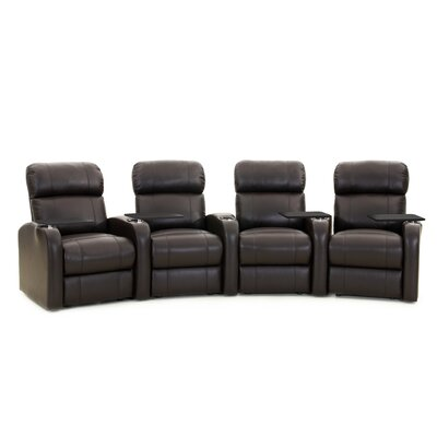 Diesel XS950 Home Theater Recliner (Row of 4) Upholstery: Black, Type: Manual