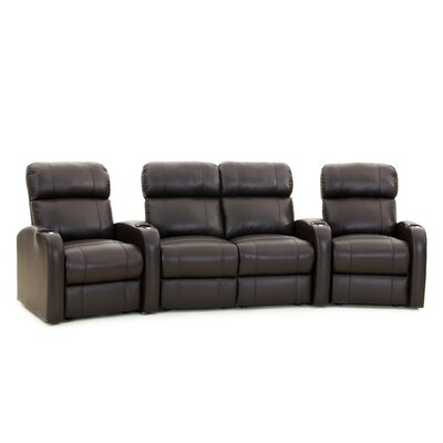 Diesel XS950 Home Theater Loveseat (Row of 4) Upholstery: Black, Type: Manual