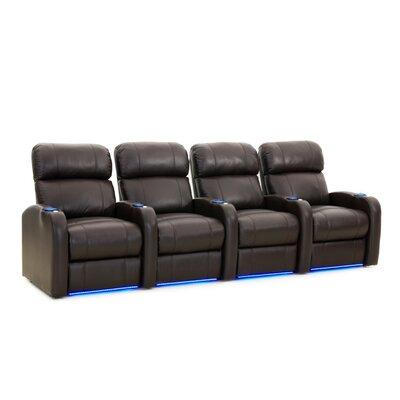 Diesel XS950 Home Theater Recliner (Row of 4) Upholstery: Brown, Type: Power