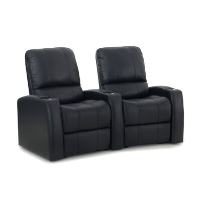 Blaze XL900 Home Theater Recliner (Row of 2) Upholstery: Black, Type: Power