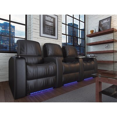 Blaze XL900 Home Theater Recliner (Row of 3) Upholstery: Black, Type: Manual