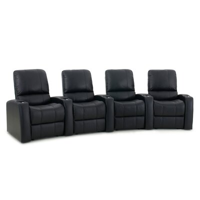 Blaze XL900 Home Theater Recliner (Row of 4) Upholstery: Black, Type: Power
