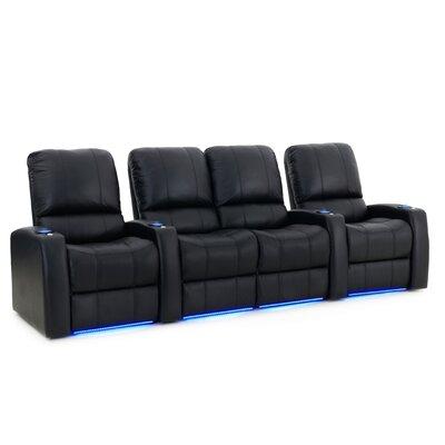 Blaze XL900 Home Theater Loveseat (Row of 4) Upholstery: Black, Type: Power