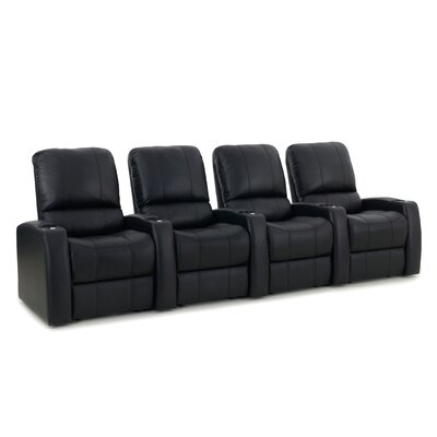 Blaze XL900 Home Theater Recliner (Row of 4) Upholstery: Black, Type: Manual