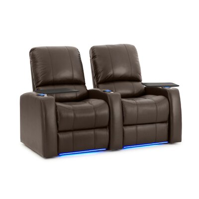 Blaze XL900 Home Theater Recliner (Row of 2) Upholstery: Brown, Type: Power