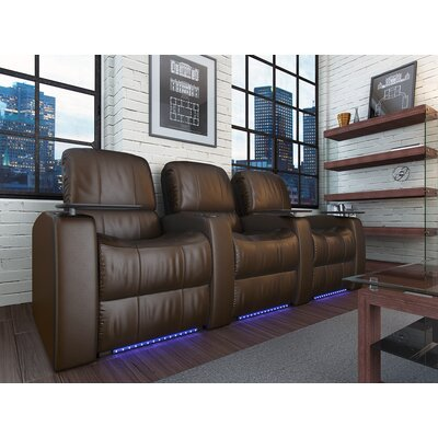 Blaze XL900 Home Theater Recliner (Row of 3) Upholstery: Brown, Type: Power