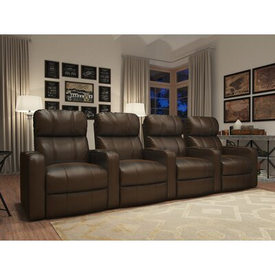 Turbo XL700 Home Theater Recliner (Row of 4) Color: Brown