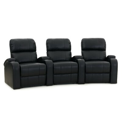Edge XL800 Home Theater Lounger (Row of 3) Color: Black, Type: Manual