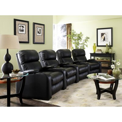 Edge XL800 Home Theater Lounger (Row of 4) Color: Black, Type: Manual