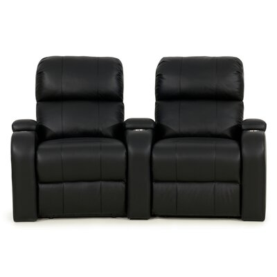 Edge XL800 Home Theater Lounger (Row of 2) Color: Black, Type: Power