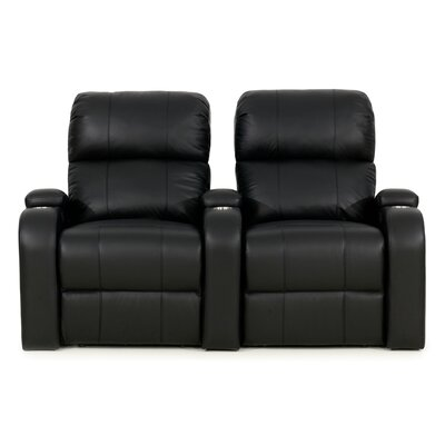Edge XL800 Home Theater Lounger (Row of 2) Color: Black, Type: Manual