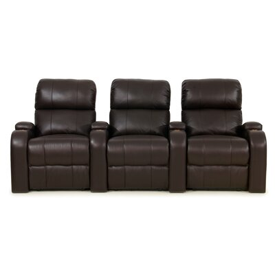 Edge XL800 Home Theater Lounger (Row of 3) Color: Brown, Type: Power