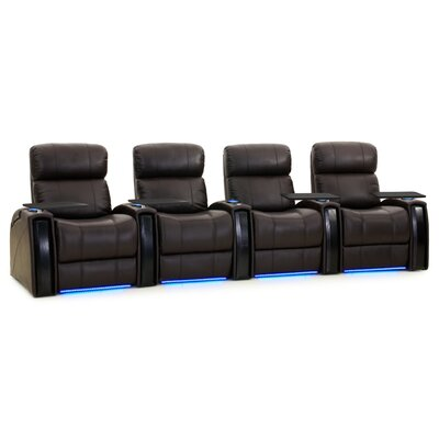 Nitro XL750 Home Theatre Lounger (Row of 4) Color: Brown