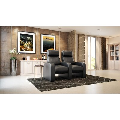 Modern Manual Rocker Recline Home Theater Row Seating (Row of 2)