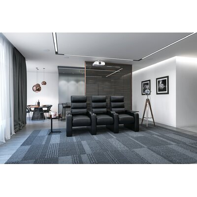 44 Manual Rocker Recline Home Theater Sofa (Row of 3)