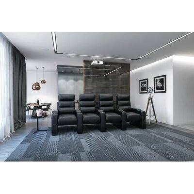 Manual Group Rocker Recline Home Theater Row Seating (Row of 4)
