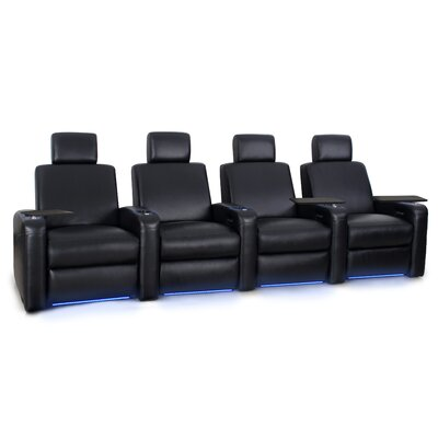 Power Recline Leather Row Seating (Row of 4)