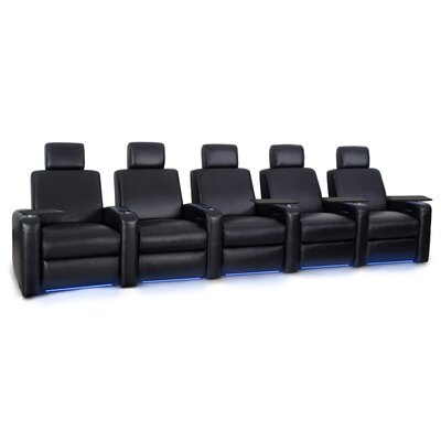 Power Recline Leather Row Seating (Row of 5)
