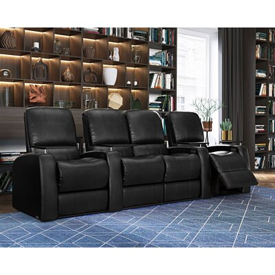Blaze XL900 Home Theater Loveseat (Row of 4) Upholstery: Black, Type: Manual