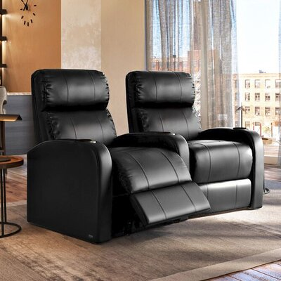Diesel XS950 Home Theater Recliner (Row of 2) Upholstery: Black, Type: Power