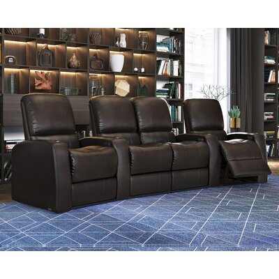 Blaze XL900 Home Theater Loveseat (Row of 4) Upholstery: Brown, Type: Power