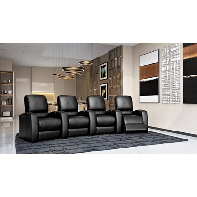 Storm XL850 Home Theater Lounger (Row of 4) Color: Black, Type: Power