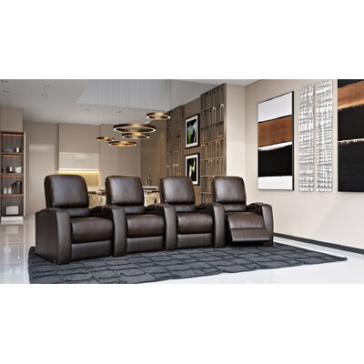 Storm XL850 Home Theater Lounger (Row of 4) Color: Brown, Type: Power