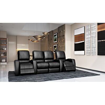 Storm XL850 Home Theater Loveseat (Row of 4) Color: Black, Type: Power