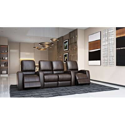 Storm XL850 Home Theater Loveseat (Row of 4) Color: Brown, Type: Power