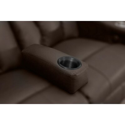 Home Theater Removable Armrest Color: Brown