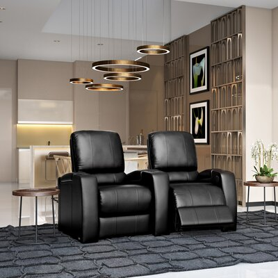 Storm XL850 Home Theater Lounger (Row of 2) Color: Black, Type: Power