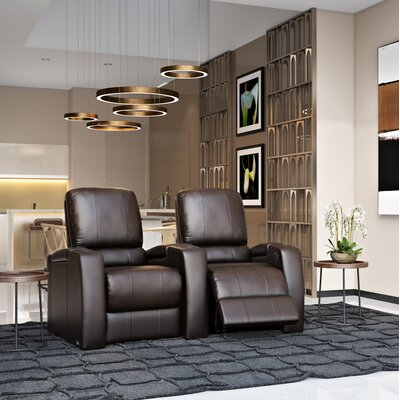 Storm XL850 Home Theater Lounger (Row of 2) Color: Brown, Type: Power