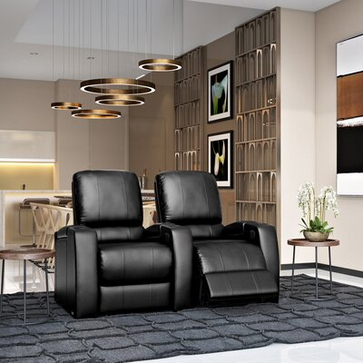 Storm XL850 Home Theater Lounger (Row of 2) Color: Black, Type: Manual
