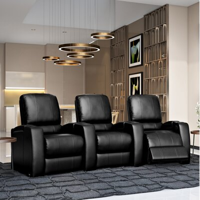 Storm XL850 Home Theater Lounger (Row of 3) Color: Black, Type: Manual