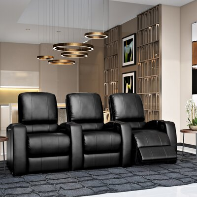 Storm XL850 Home Theater Lounger (Row of 3) Color: Black, Type: Power