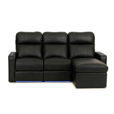 Modern Leather Home Theater Sofa (Row of 3)