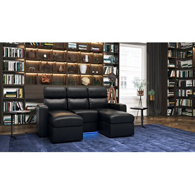 Contemporary Leather Home Theater Sofa (Row of 3)