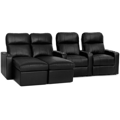 Modern Leather Home Theater Sofa (Row of 4)
