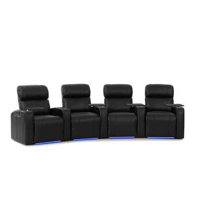 Sleek Home Theatre Row Curved Seating with Chaise Footrest (Row of 4) LTTN3425 44426855