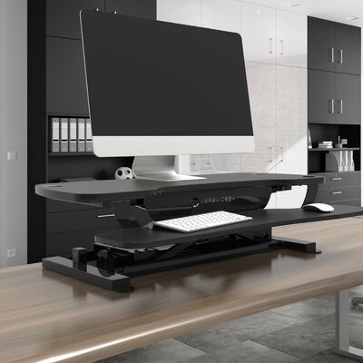 Standing Desk Conversion Unit Size: 36 W x 24 D, Color: Black